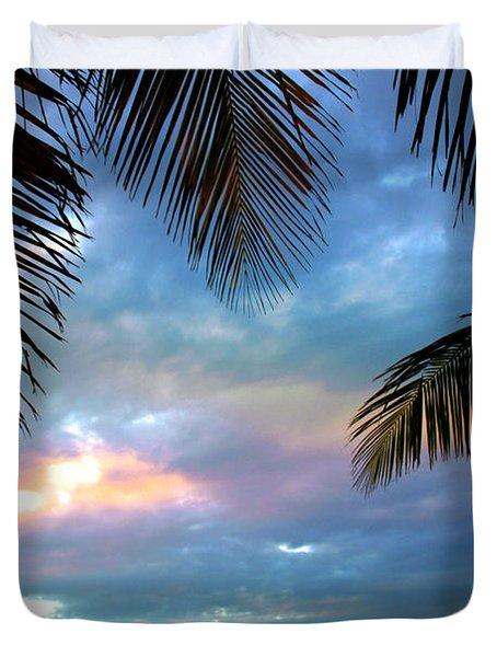 Palm Curtains Duvet Cover by Susanne Van Hulst