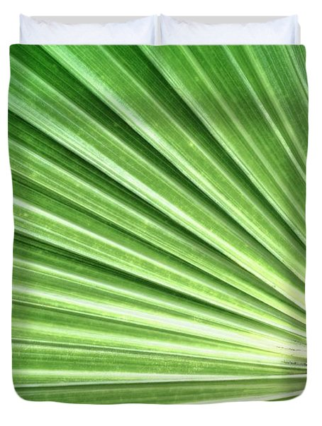 Palm leaf Duvet Cover by Rudy Umans