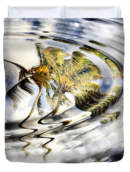 Palm Reflections Duvet Cover by Cheryl Young