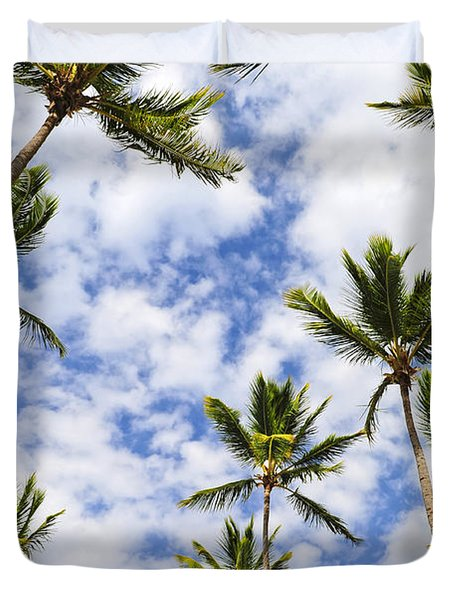 Palm trees Duvet Cover by Elena Elisseeva