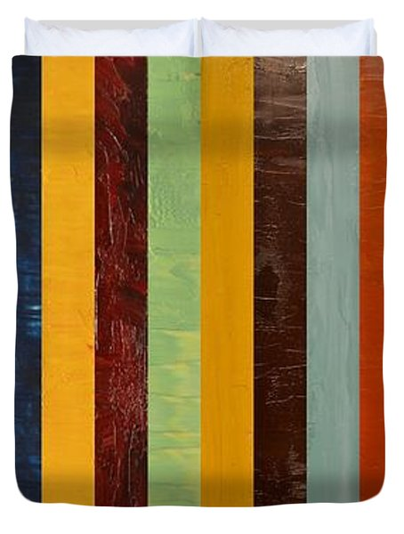 Panel Abstract Lll  Duvet Cover by Michelle Calkins