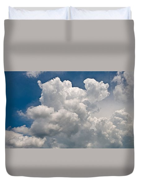 Panoramic Clouds Number 1 Duvet Cover by Steve Gadomski