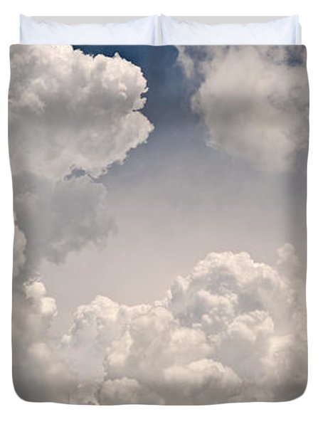 Panoramic Clouds Number 9 Duvet Cover by Steve Gadomski