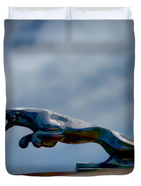 Panther Hoodie Duvet Cover by Douglas Pittman