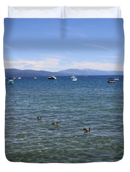Parade of Geese Duvet Cover by Carol Groenen