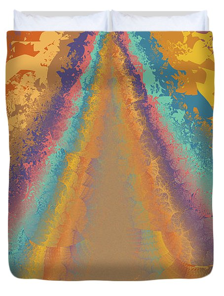 Parameter Space Mountain Duvet Cover by Mark Greenberg
