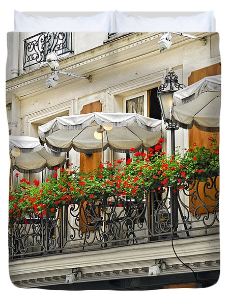 Paris Cafe Duvet Cover by Elena Elisseeva