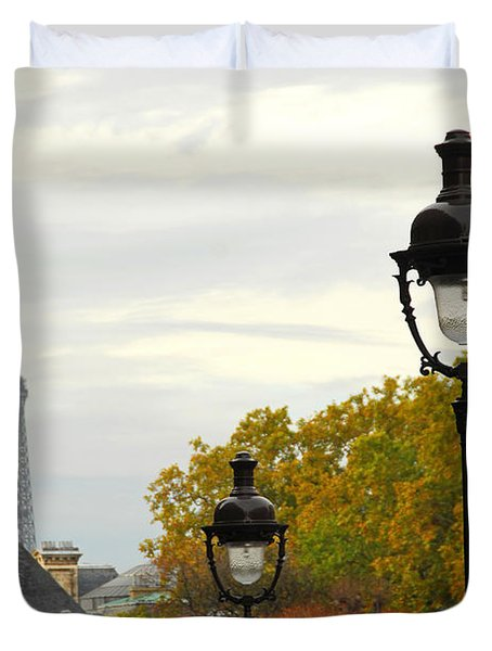 Paris street Duvet Cover by Elena Elisseeva