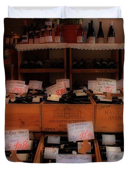 Paris Wine Shop Duvet Cover by Andrew Fare