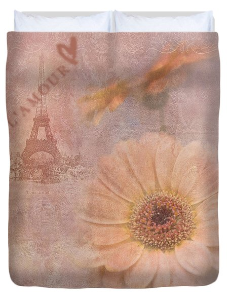 Parisian Oooo La La Duvet Cover by Betty LaRue