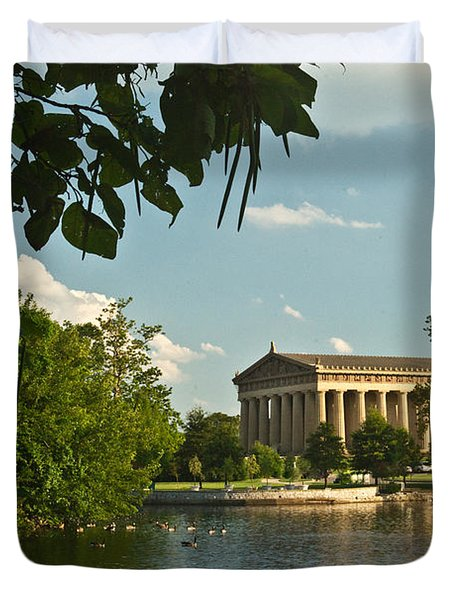 Parthenon at Nashville Tennessee 10 Duvet Cover by Douglas Barnett
