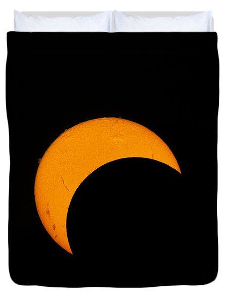 Partial Solar Eclipse Of 2012 Duvet Cover by Phillip Jones
