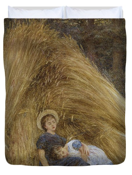 Past Work Duvet Cover by Helen Allingham