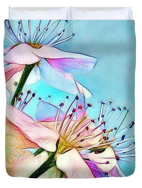 Pastel Petals Duvet Cover by Judi Bagwell