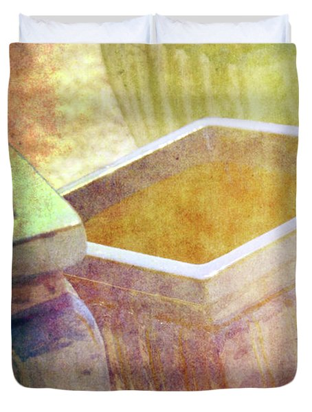Pastel Pottery Duvet Cover by Susanne Van Hulst