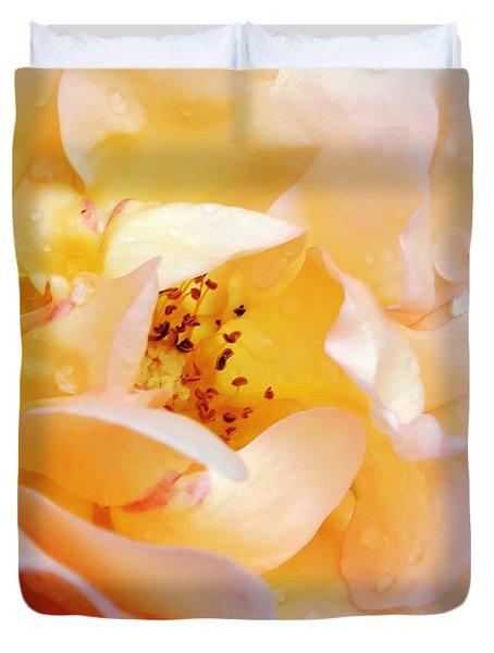 Pastel Rose Duvet Cover by Kaye Menner