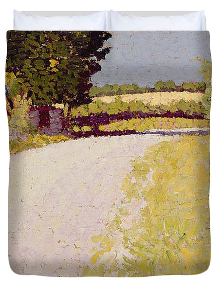 Path In The Country Duvet Cover by Charles Angrand
