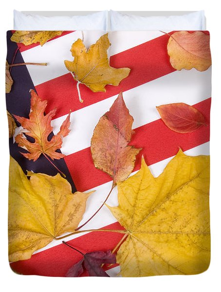 Patriotic Autumn Colors Duvet Cover by James BO  Insogna