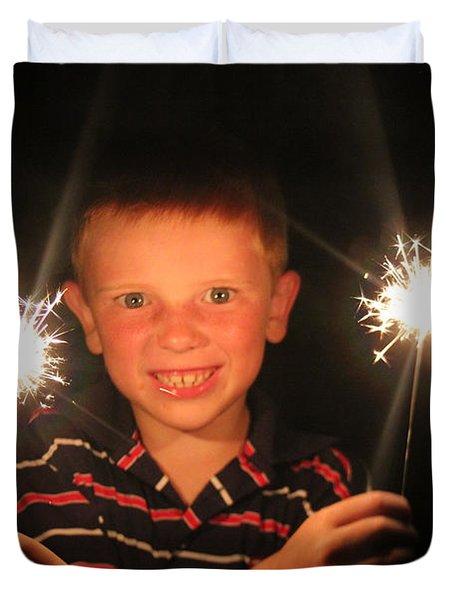 Patriotic Boy Duvet Cover by Kelly Hazel