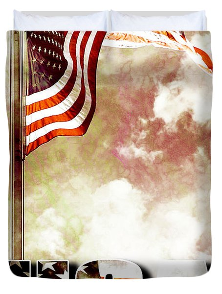 Patriotism The American Way Duvet Cover by Phill Petrovic