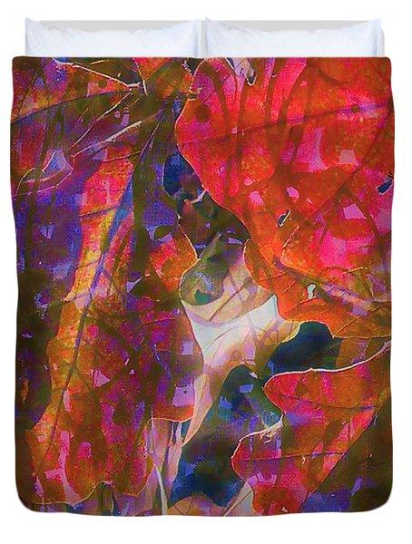 Patterns In Scarlet Duvet Cover by Judi Bagwell