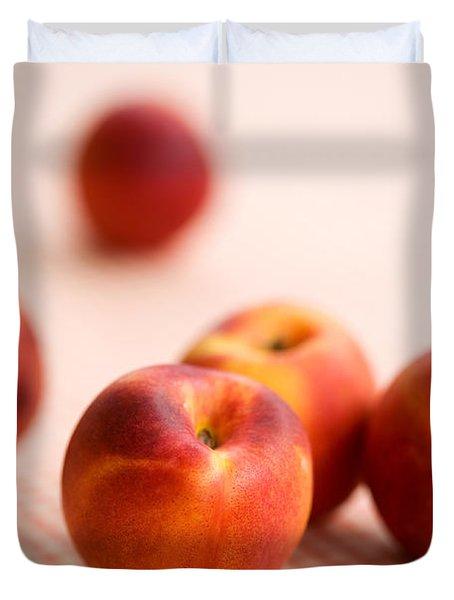 Peaches  Duvet Cover by Kati Molin