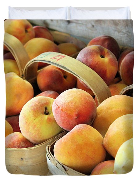 Peaches Duvet Cover by Kristin Elmquist
