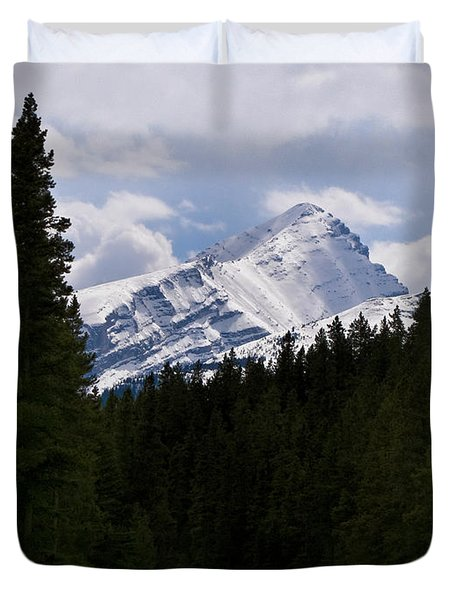Peaking Peak Duvet Cover by Roderick Bley