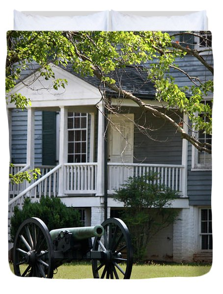 Peers House And Cannon Appomattox Court House Virginia Duvet Cover by Teresa Mucha