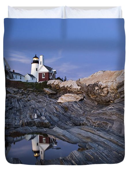 Pemaquid Point Lighthouse - D002139 Duvet Cover by Daniel Dempster
