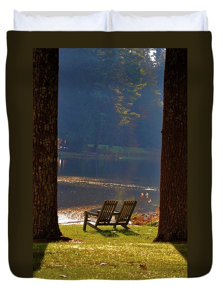 Perfect Morning Place Duvet Cover by Bill Cannon