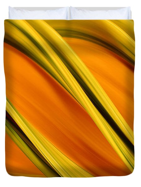 Peripheral Streak Image Of Squash Duvet Cover by Ted Kinsman