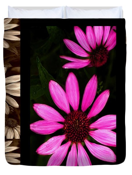 Petal Collage Duvet Cover by Cheryl Young