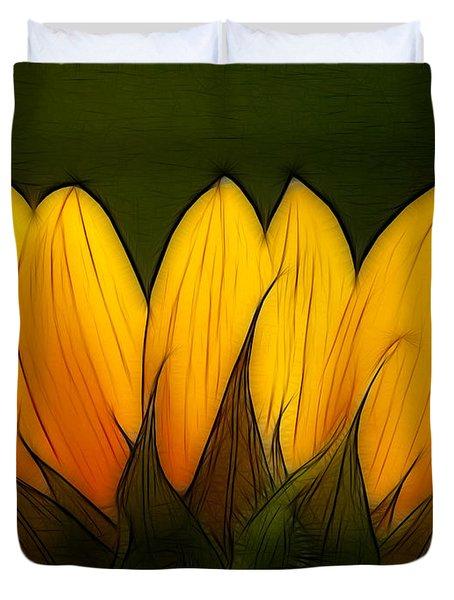 Petales de Soleil - a12 Duvet Cover by Variance Collections