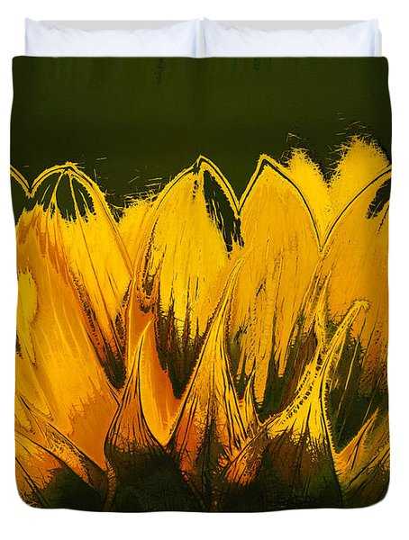 Petales de Soleil - a41b Duvet Cover by Variance Collections