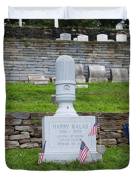 Phillies Harry Kalas' Grave Duvet Cover by Bill Cannon