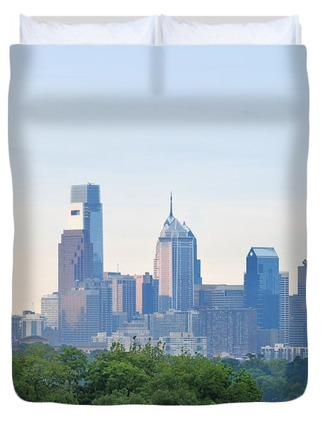 Philly Skyline Duvet Cover by Bill Cannon
