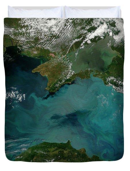 Phytoplankton Bloom In The Black Sea Duvet Cover by Stocktrek Images