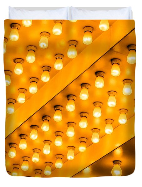 Picture of Theater Lights Duvet Cover by Paul Velgos