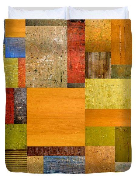 Pieces Project Ll Duvet Cover by Michelle Calkins