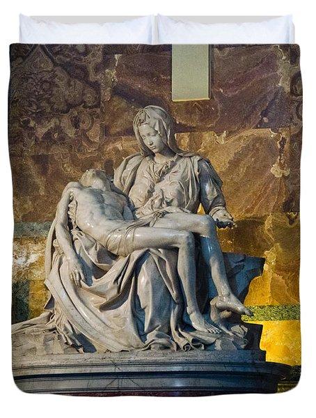 Pieta By Michelangelo Circa 1499 Ad Duvet Cover by Jon Berghoff