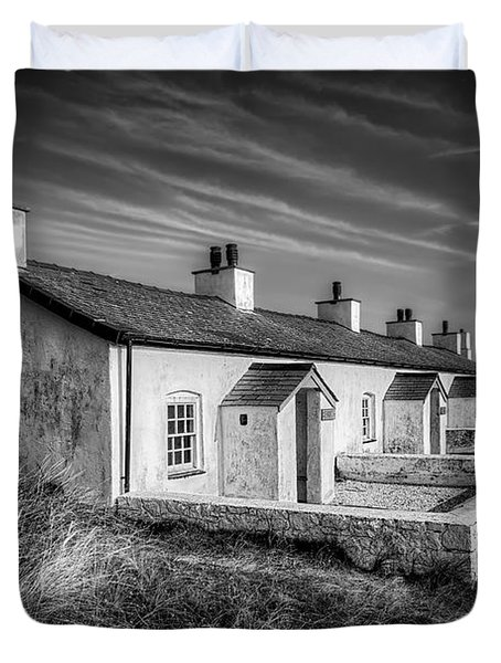 Pilot Cottages Duvet Cover by Adrian Evans