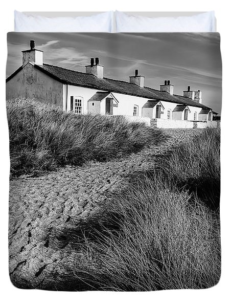 Pilots Cottages Duvet Cover by Adrian Evans
