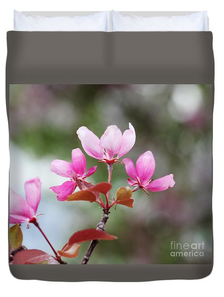 Pink Apple Blossom 2 Duvet Cover by Donna Munro