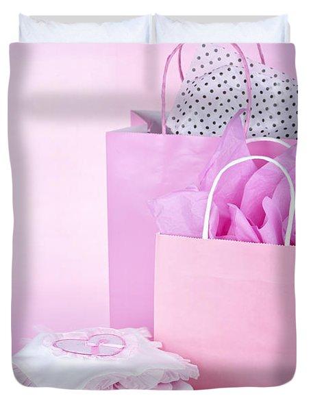 Pink baby shower presents Duvet Cover by Elena Elisseeva