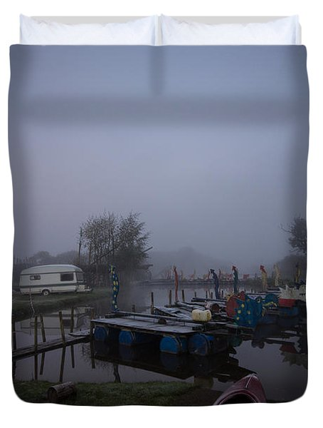 Pink Canoe Duvet Cover by Dawn OConnor