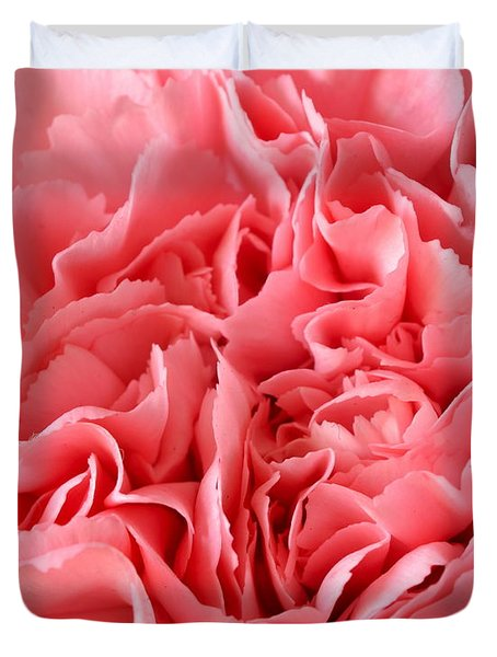 Pink Carnation Duvet Cover by JD Grimes
