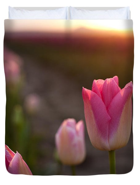 Pink Glory Duvet Cover by Mike Reid