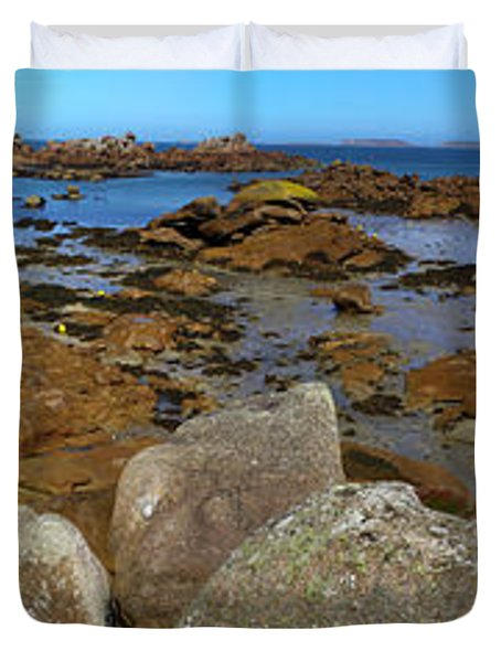 Pink Granite Coast Duvet Cover by Heiko Koehrer-Wagner