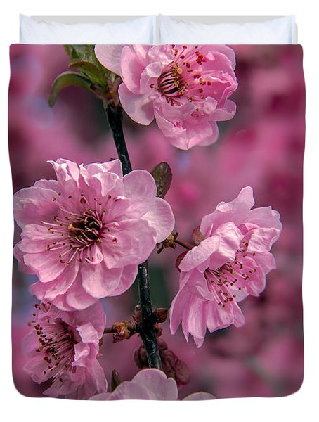 Pink On Pink Duvet Cover by Robert Bales